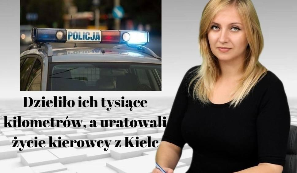 Film do artykułu: Dzieliło ich tysiące kilometrów, a uratowali życie kierowcy z Kielc [WIADOMOŚCI]