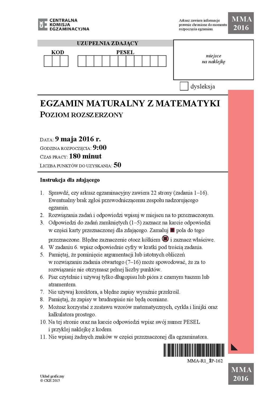 matura chemia rozszerzona maj 2021