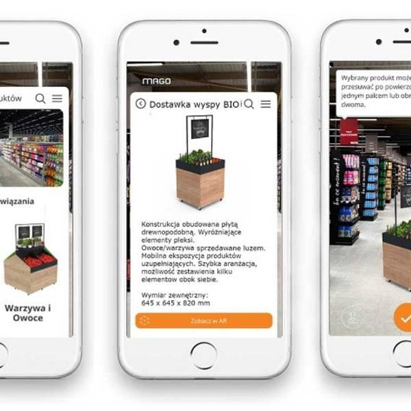Aplikacja MAGO AR pozwala na aranżowanie przestrzeni sklepowej przed dokonaniem zakupu.