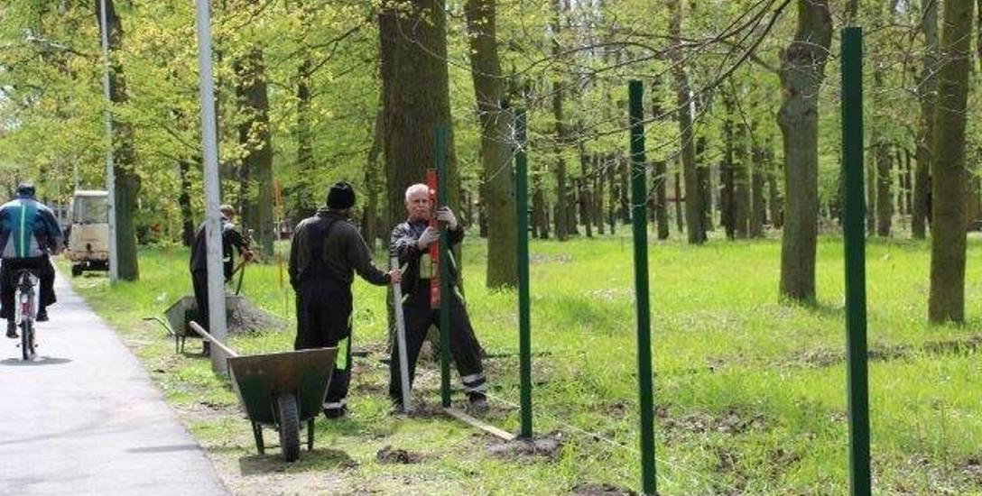 Najpierw ogrodzenie, potem będą montowane urządzenia w parku