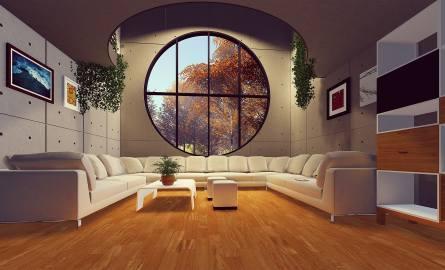 Ten apartament z przepięknym oknem nie jest z Katowic. Za to na kolejnych zdjęciach znajdziecie już aktualne oferty luksusowych i drogich mieszkań w