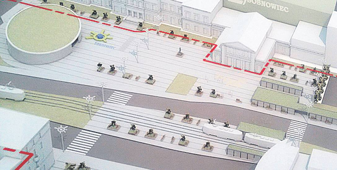 Koncepcja firmy Amaya Achitekci zakłada m.in. budowę rotundy przed budynkiem dworca