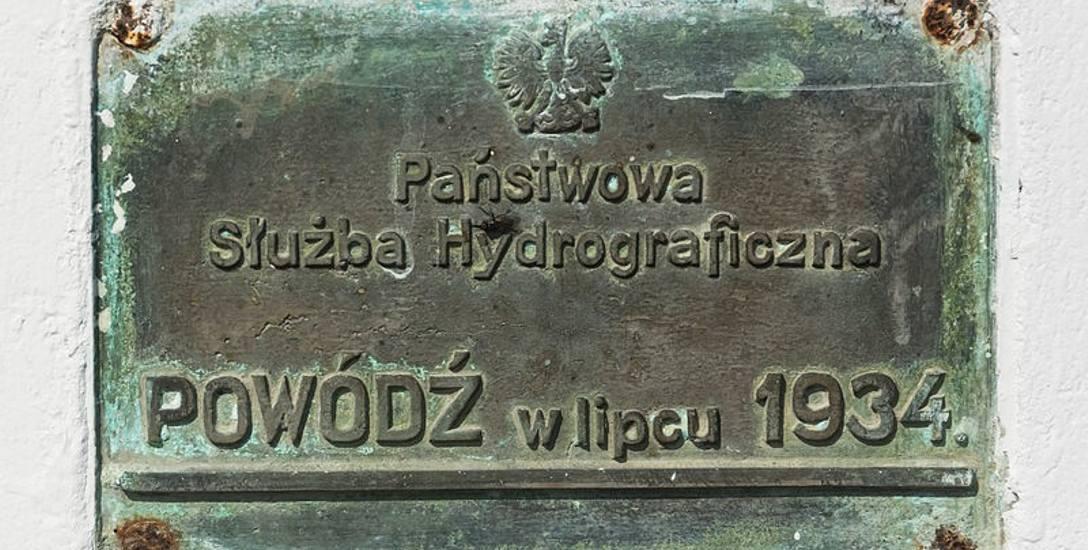 Oznaczenie poziomu wody w Przecławiu