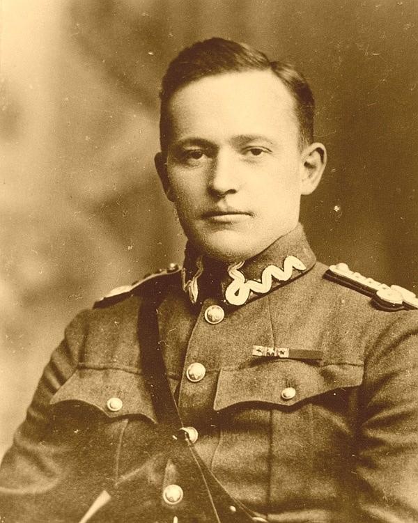 Merian C. Cooper w polskim mundurze, około 1920 roku