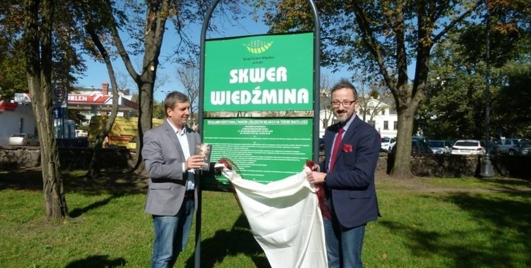 Tabliczkę odsłonili Tomasz Kacprzak, przewodniczący Rady Miejskiej i Krzysztof Piątkowski, wiceprezydent Łodzi.