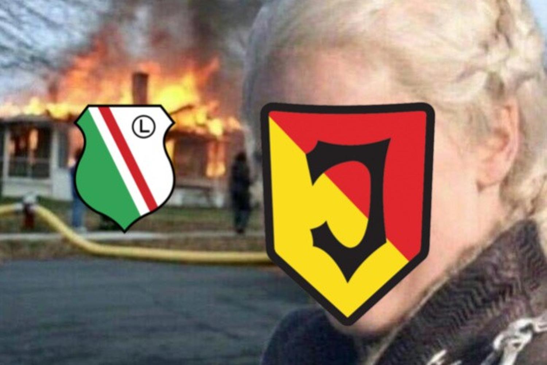 Legia przegrywa z Jagiellonią, a internauci tworzą memy