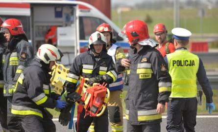 Wypadek autokaru na autostradzie A1. Duże ćwiczenia służb ratunkowych województwa kujawsko-pomorskiego [zdjęcia]