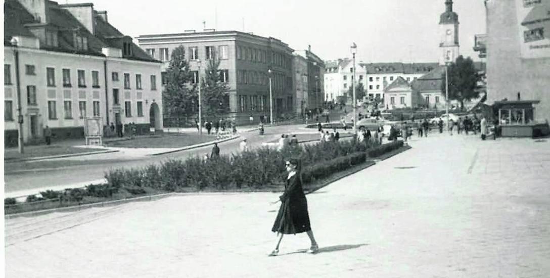 Gmach banku przy Rynku Kościuszki. Ze zbiorów Muzeum Podlaskiego w Białymstoku.