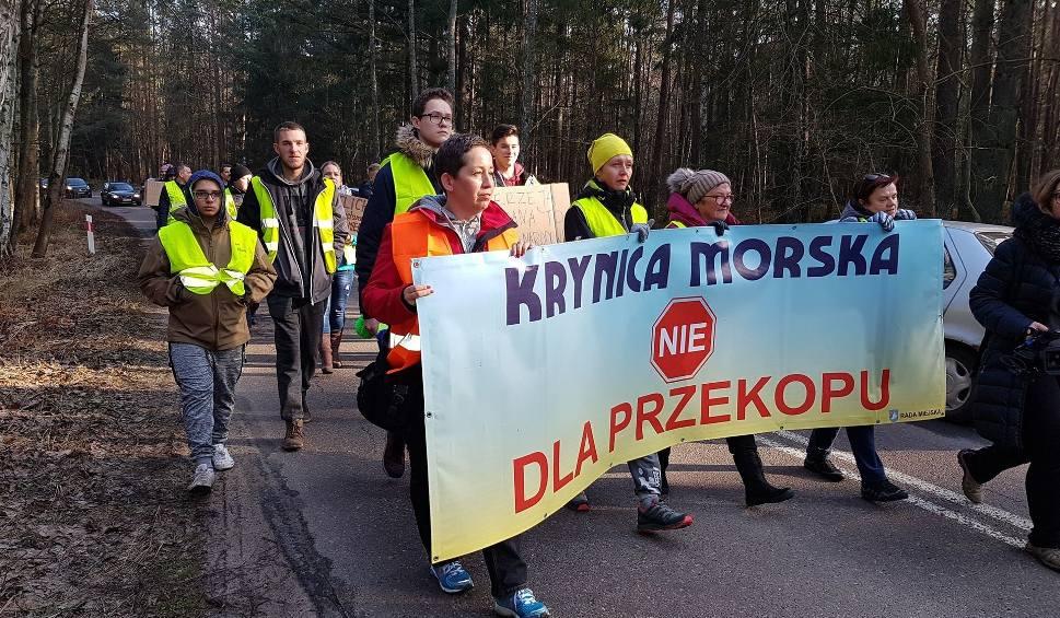Film do artykułu: Protest na Mierzei Wiślanej 18 lutego 2019 roku. Mieszkańcy Krynicy Morskiej przeciwko przekopowi