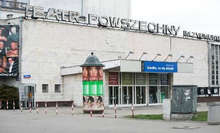 09.04.2008 warszawa teatr powszechny budynek remont elewacja fot maciej jeziorek / polskapresse