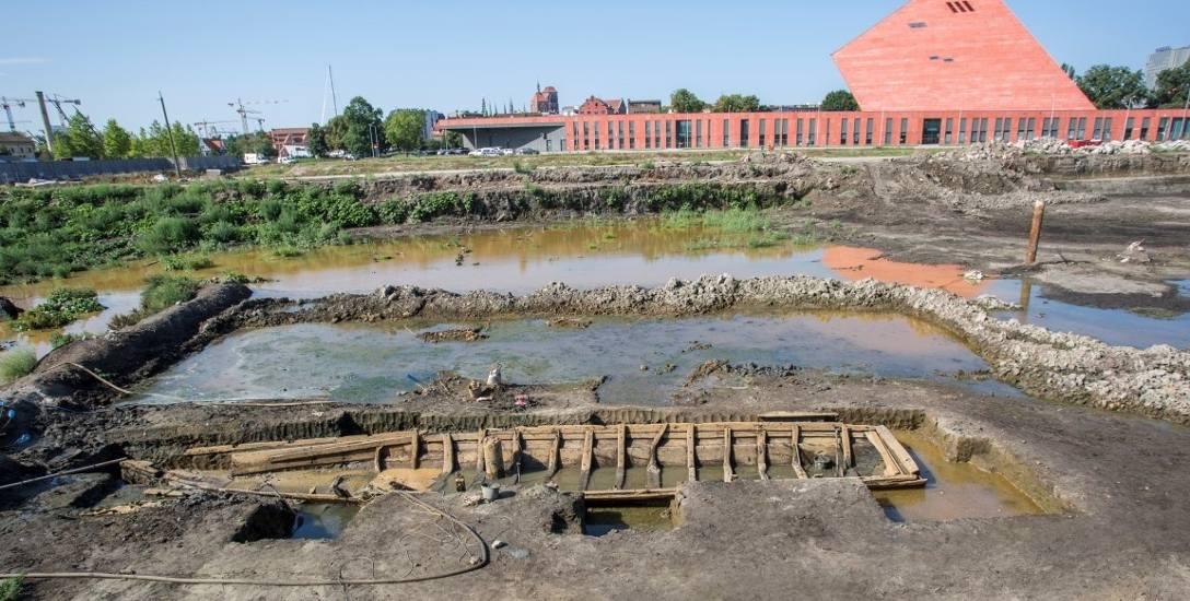 Podczas Budowy gdańskiego osiedla Brabank odkryto 18-metrowy wrak łodzi