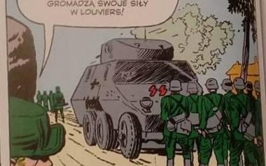 Rysunek, inspirowany kadrem z kroniki poświęconej zdobywaniu Poczty Polskiej, pojawił się w jednym z Marvelowskich komiksów.