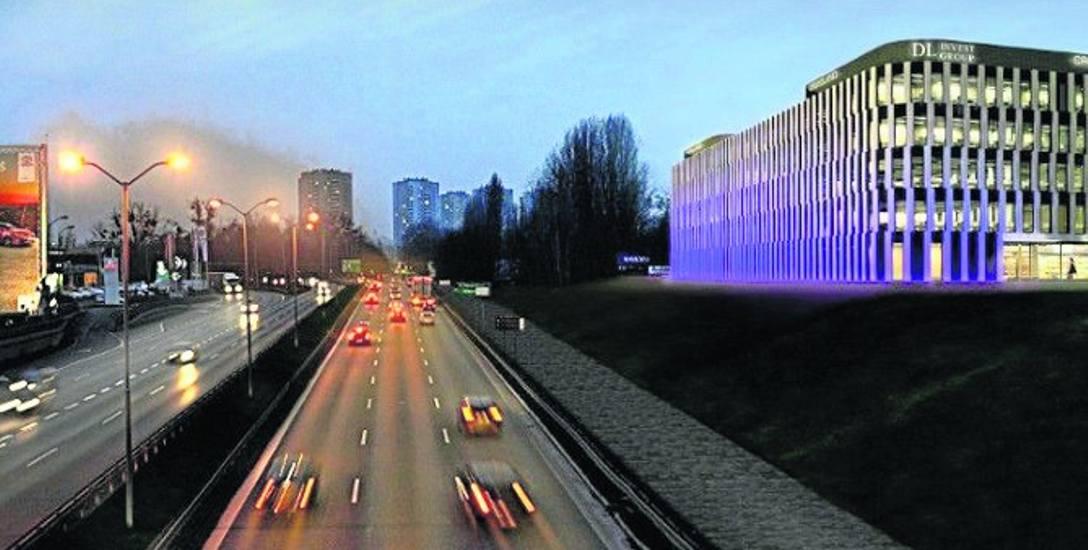 Tak ma wyglądać wjazd do centrum Katowic drogą S86. Budynek  po prawej stronie ma mieć 4 piętra i 21 m wysokości.