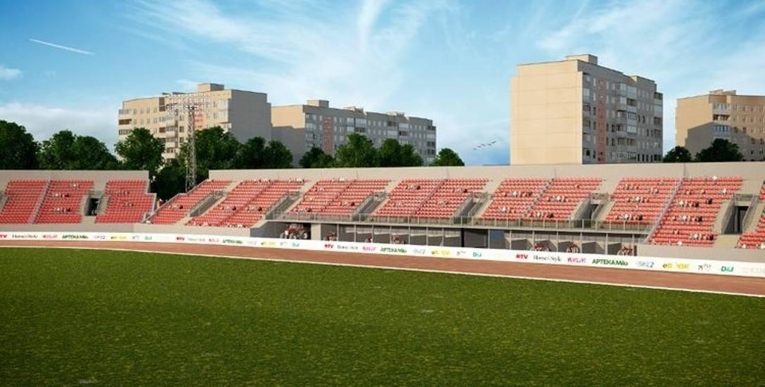 Kolorystyka siedzeń na nowych trybunach ma nawiązywać do tradycyjnych biało-czerwonych barw Polonii Bydgoszcz