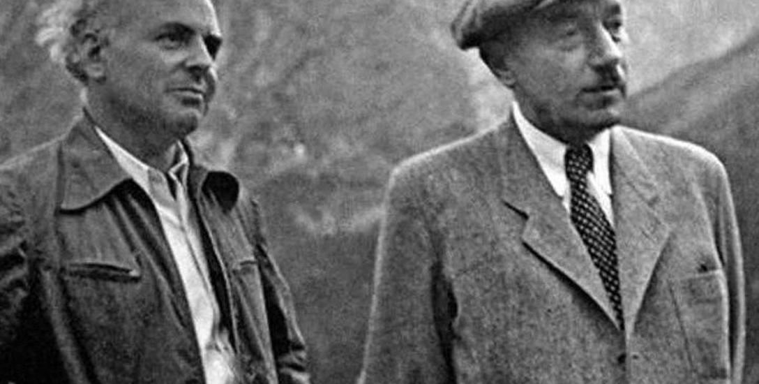Największa i najskuteczniejsza prowokacja MBP toczyła się pod osobistym nadzorem Jakuba Bermana (z lewej) i Bolesława Bieruta (z prawej)