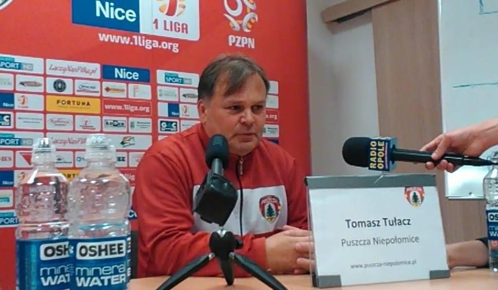 Film do artykułu: Trener Puszczy Tomasz Tułacz: Chcieliśmy zaskoczyć rywala, nie dając mu grać