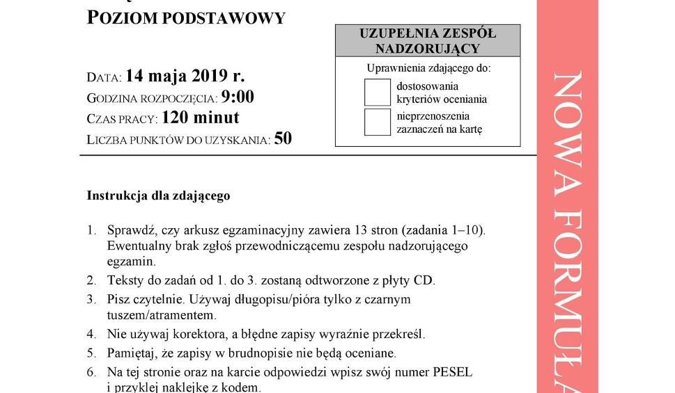 Film do artykułu: Matura 2019 NIEMIECKI - co było na maturze z j. niemieckiego podstawa Odpowiedzi, Arkusz CKE 14 05