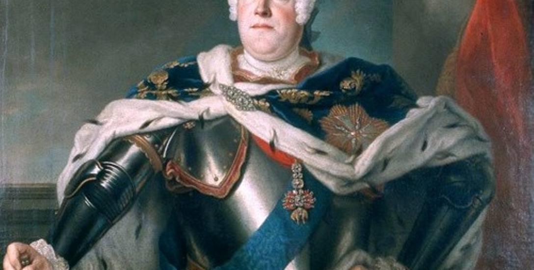August III na obrazie Louisa de Silvestre'a