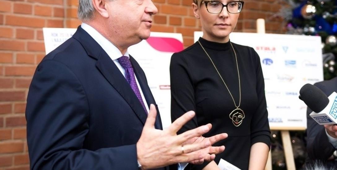 Marek Michalik, prezes ŁSSE i Agnieszka Sygitowicz, wiceprezes ŁSSE.