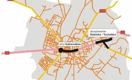 Korki prawie co krok w Chojnicach, Tucholi i Sępólnie