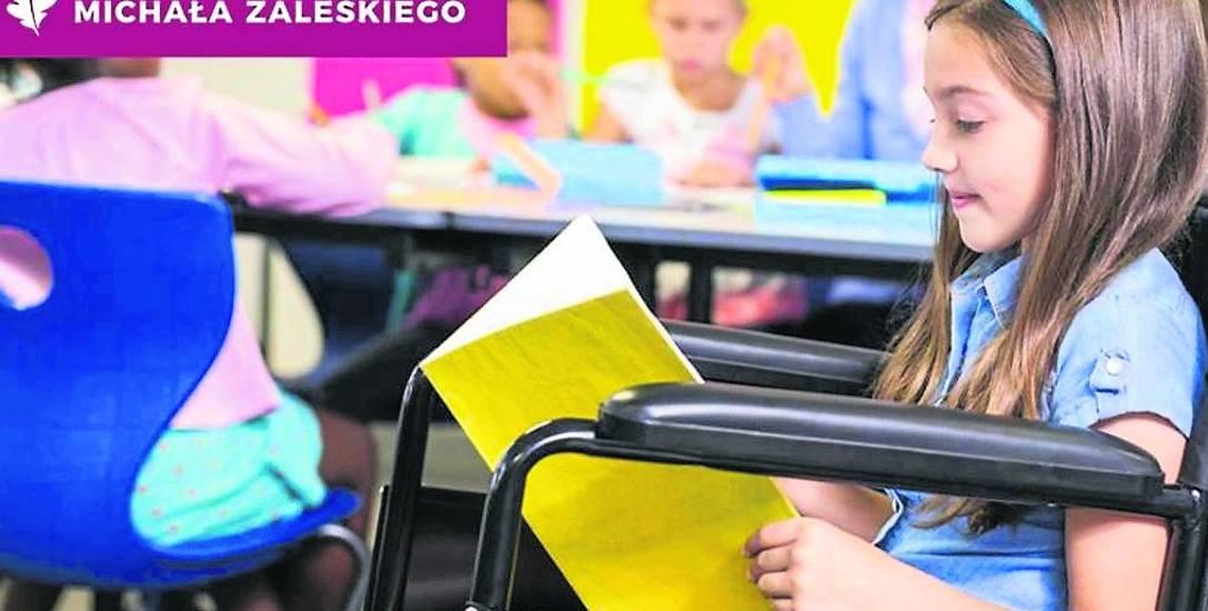 Między innymi poprzez ten plakat prezydent Michał Zaleski promował swój  program wsparcia niepełnosprawnych dzieci. Ma ruszyć najwcześniej w kwietniu
