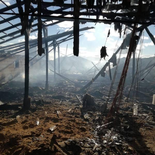 Czerwony Dwór. Wielki pożar kurnika. Spłonęło 20 tys. kurcząt (zdjęcia)