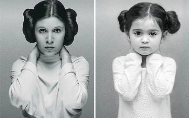 Ashley Larson fotografuje swoją 3-letnią córkę naśladującą sławne, silne kobiety.