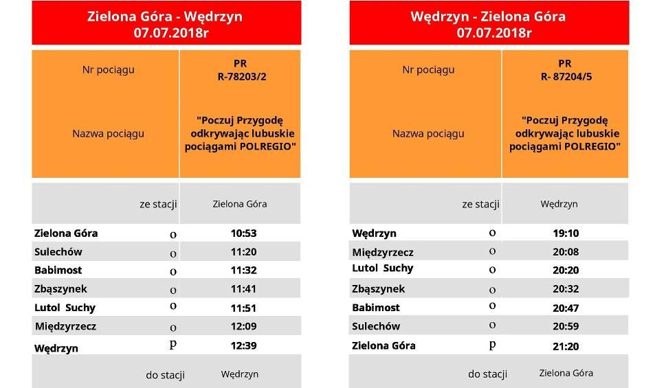 Film do artykułu: Rozkład jazdy w relacji Zielona Góra - Wędrzyn/Lubniewice- Zielona Góra