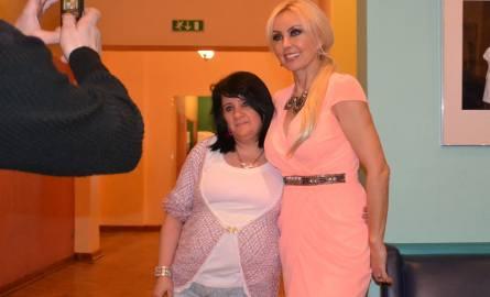 Hania Górska z Grudziądza była szczęśliwa, że zrobiła sobie wspólne zdjęcie z ulubioną piosenkarką.