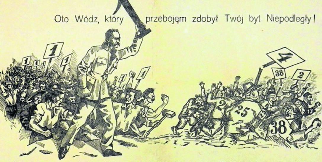 Marszałek Piłsudski na czele zwolenników BBWR