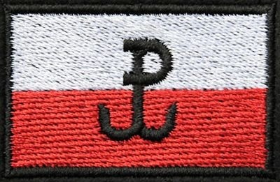 Naszywka Haftowana Flaga Polski Polska Walcząca
