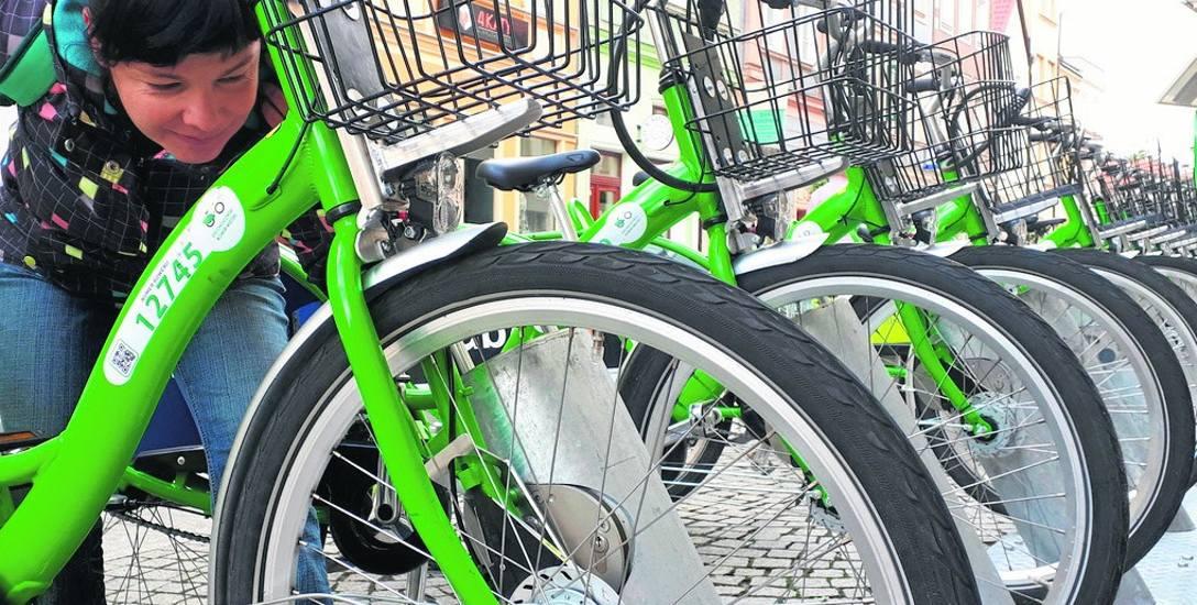 Anna Chabowska, aktorka Lubuskiego Teatru, także chętnie korzysta z miejskich rowerów