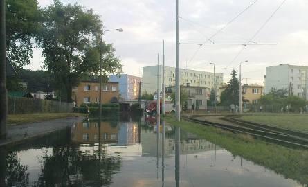 Zalana ulica Szpitalna