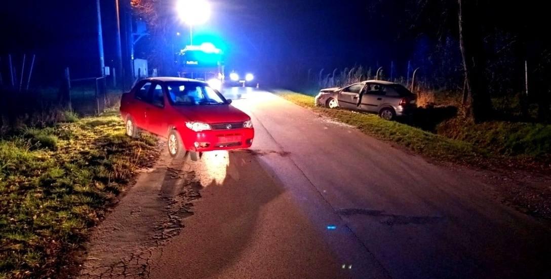 Zderzenie opla z fiatem w miejscowości Chodnów