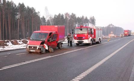 Kierowca fiata ducato trafił do szpitala