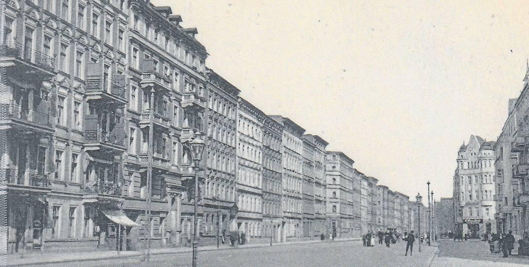 Ulica Ślężna od skrzyżowania z ul. Pabianicką i Petrusewicza (Augustastrasse) w kierunku północnym