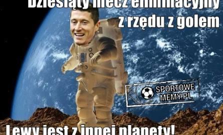 Kosmiczny Lewandowski! Najlepsze memy po meczu Czarnogóra-Polska