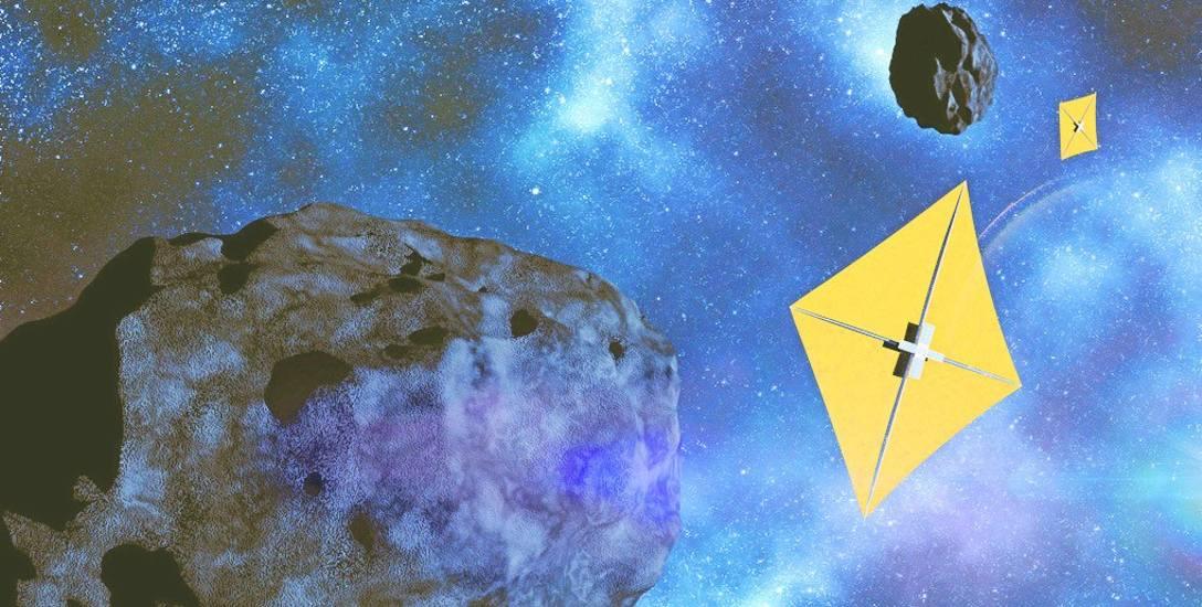 """W """"Złotym runie"""" firma ABM Space proponuje, by  słoneczny żagiel był wykonywany nie na Ziemi, a w kosmosie - na przykład ze złota albo metali z grupy"""