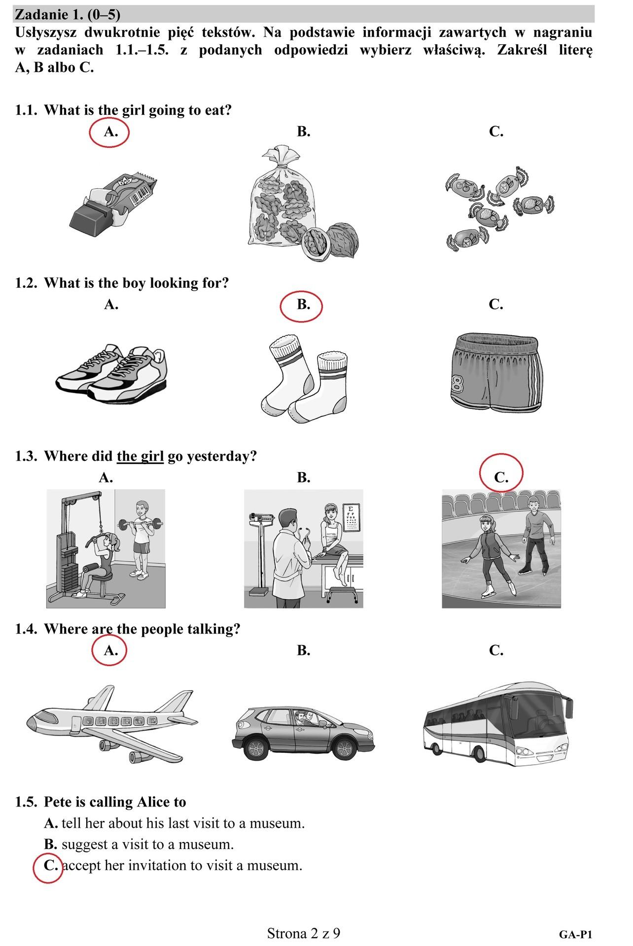 przykładowe testy z angielskiego b2