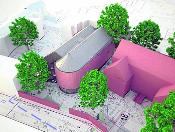 Tak wygląda wizualizacja nowego budynku (po lewej), który stanie przy starej siedzibie (budynek po prawej) i bedzie z nią połączony  łącznikiem