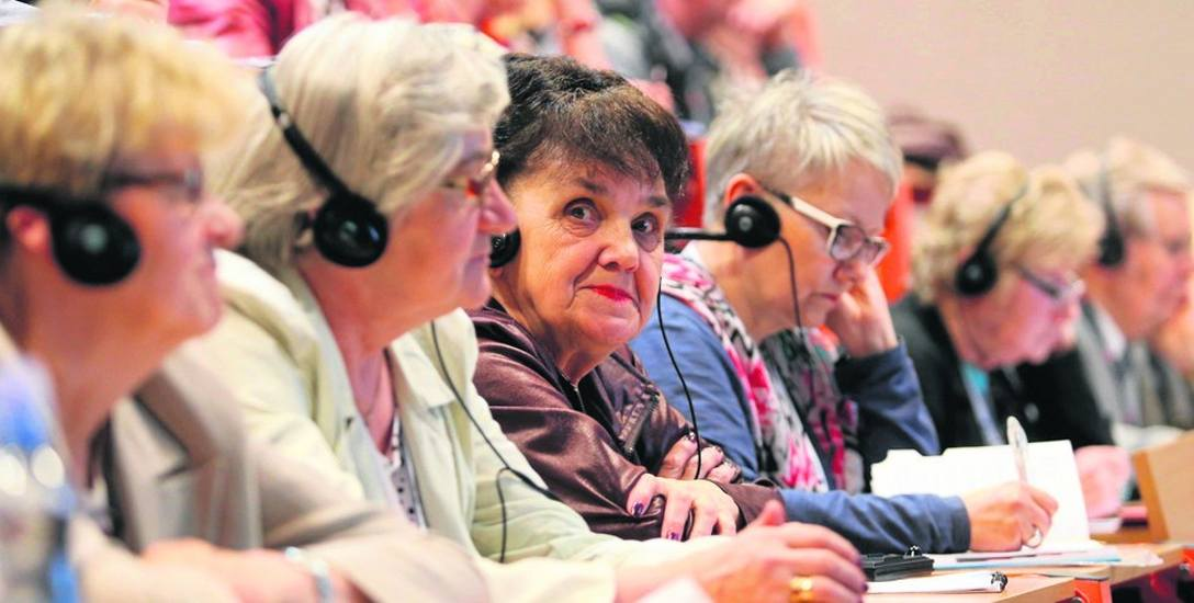 Seniorzy na Kongresie Obywatel Senior mieli warsztaty z emisji głosu