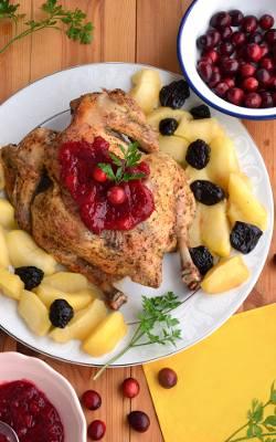 Owocowy kurczak kukurydziany.
