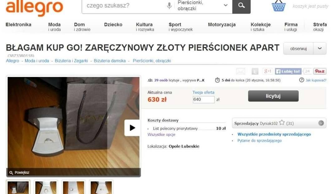 Pierścionek Na Allegro Hitem Internetu Dlaczego Gloswielkopolskipl