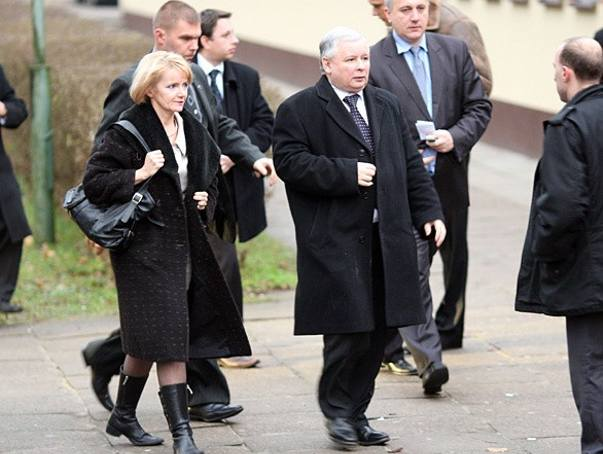 Na zdjęciu: Jolanta Szczypińska i Jarosław Kaczyński.