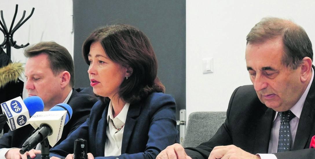 Od lewej: Paweł Sujka, Barbara Michalska i Janusz Żmurkiewicz przedstawili propozycje budżetowe na 2018 rok