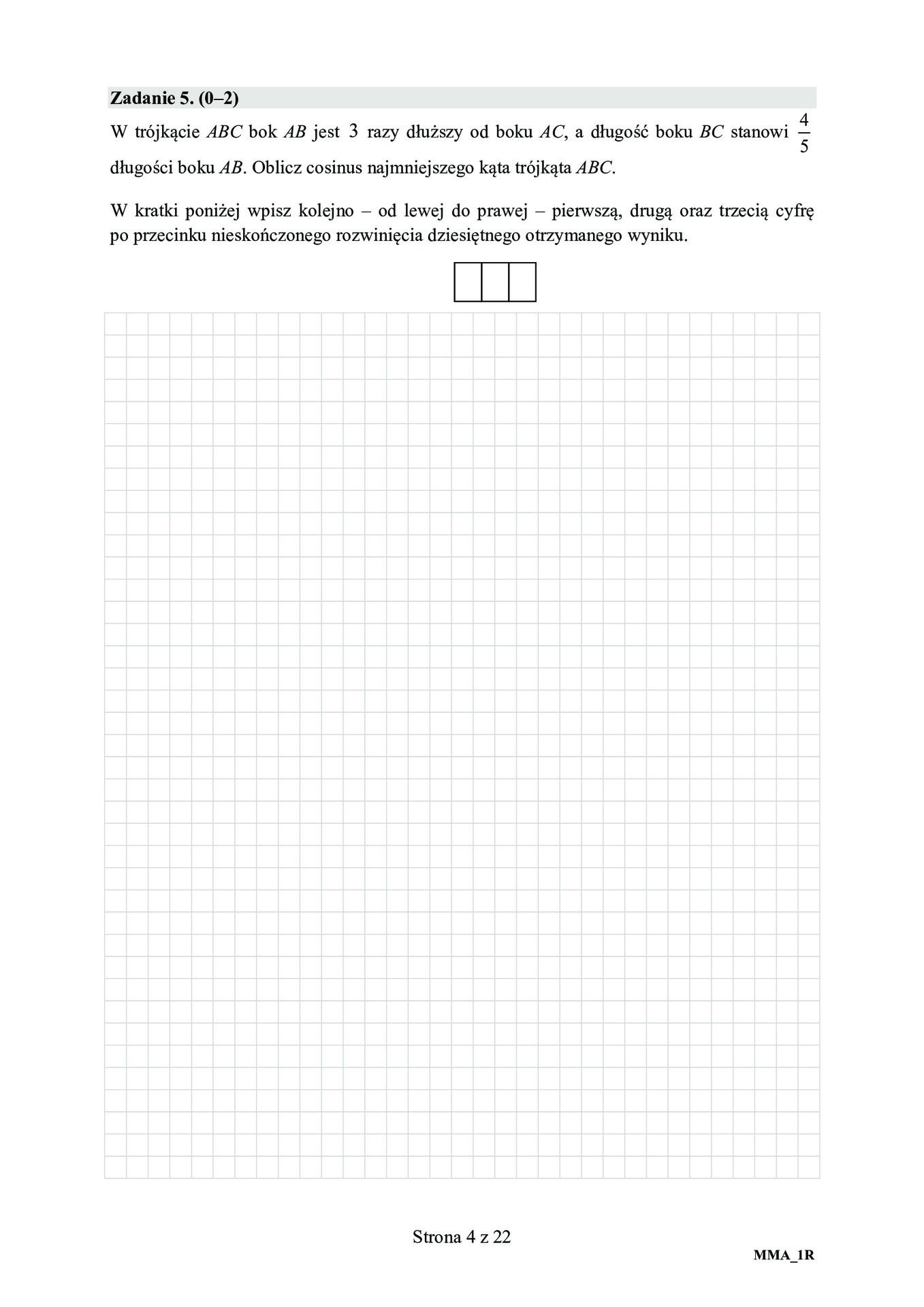 matura rozszerzona z matematyki 2021