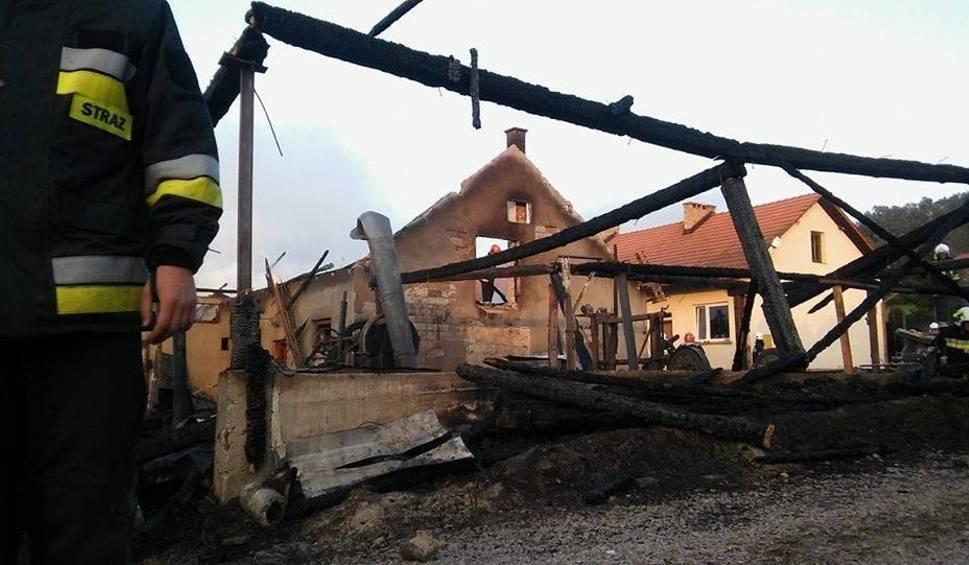 Film do artykułu: Podchybie (gm. Lanckorona). Spłonął tartak. Dwie osoby poszkodowane