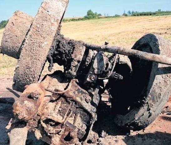 Silnik angielskiej firmy Blackstone, wyprodukowany przed 1937 roku, z polskiego schronu na Polesiu trafił do sowieckiego bunkra