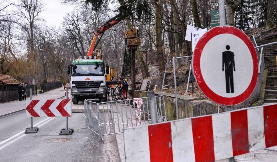 Film do artykułu: Będzie bezpieczniej w pobliżu sopockiej skarpy wzdłuż ul. Sobieskiego. Trwa wycinka chorych drzew [zdjęcia]