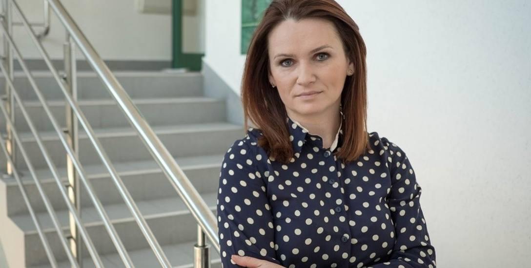 Mł. asp. Edyta Chabowska, rzecznik Izby Administracji Skarbowej w Rzeszowie.